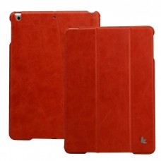 Vintage iPad 2017 (5th Generation) Case, Leer, Rood
